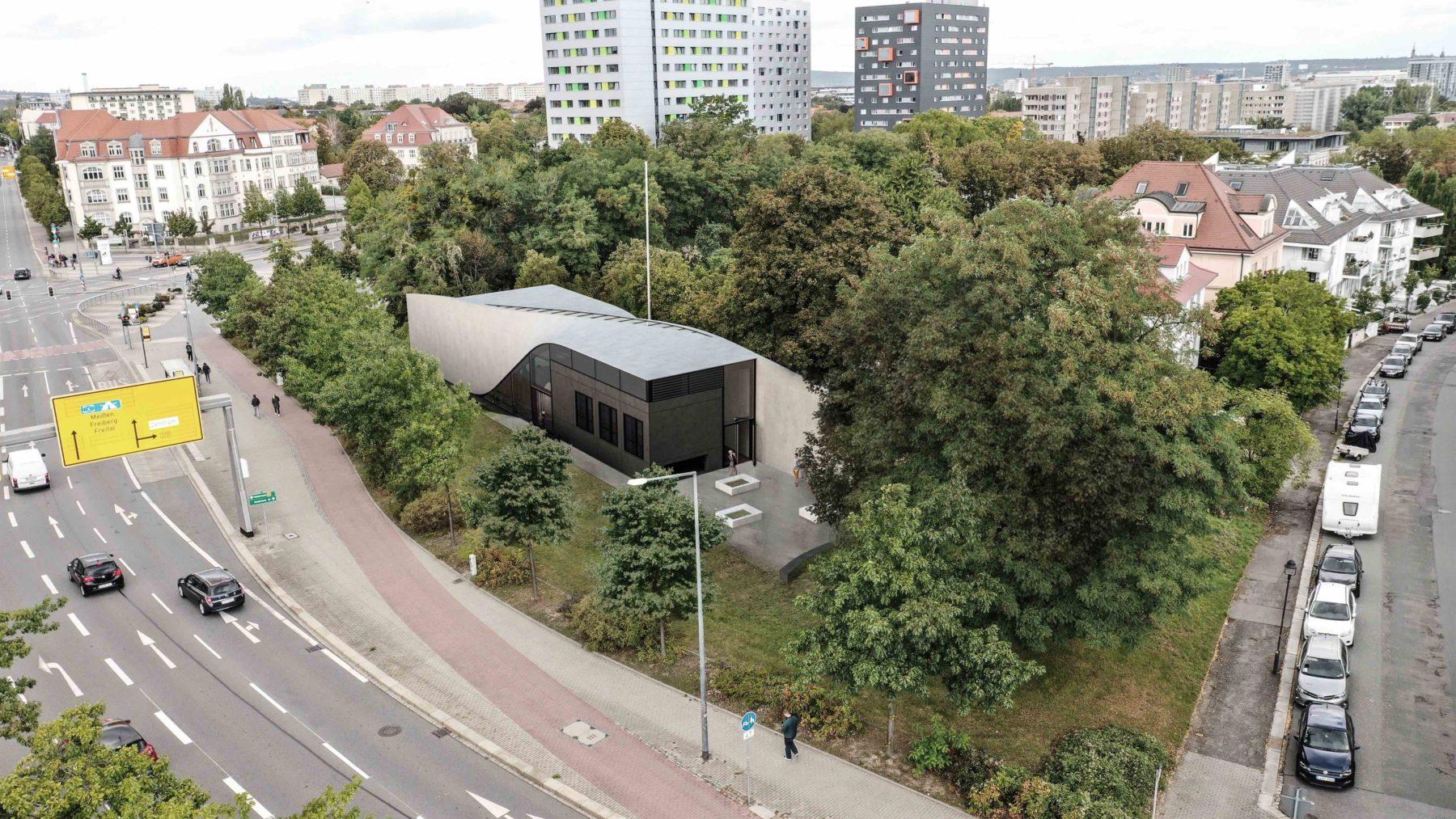 Das Carbonhaus CUBE wird auf dem Gelände der TU Dresden gebaut. Grafik: Iurii Vakaliuk
