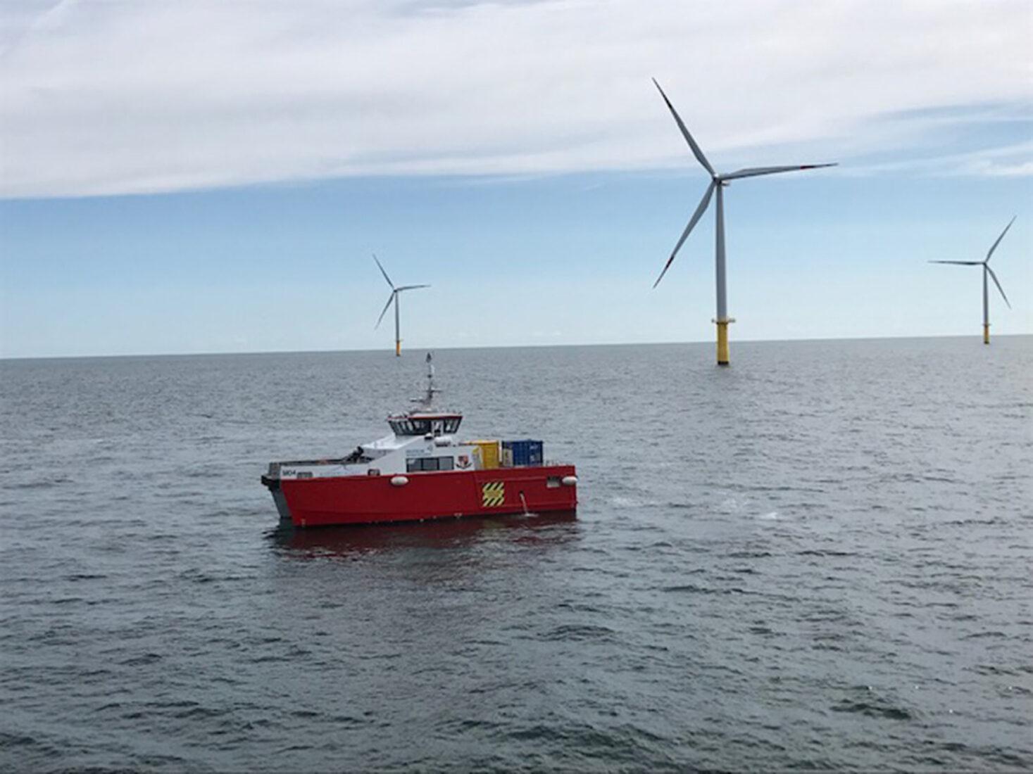 Der Offshore-Windpark Butendiek verbrauchte große Mengen Korrosionsschutzmittel. Foto: Sika Deutschland GmbH