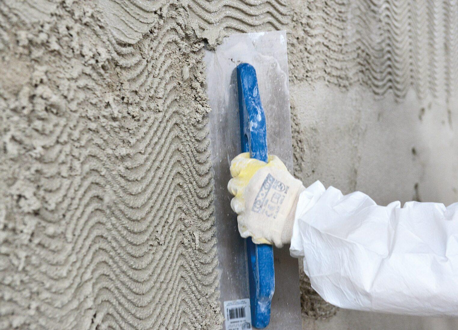 """Der Putz """"Elegant MRP"""" eignet sich für Mauerwerk bis zu einem Durchfeuchtungsgrad von 95 %. Foto: MC-Bauchemie, Bottrop"""