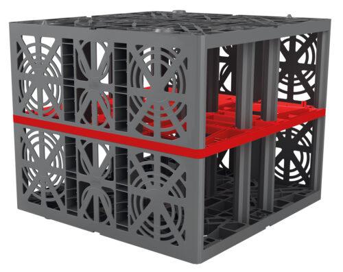 Kastenförmige Rigolen sind leicht und haben eine hohes Speichervolumen. Foto: Otto Graf GmbH