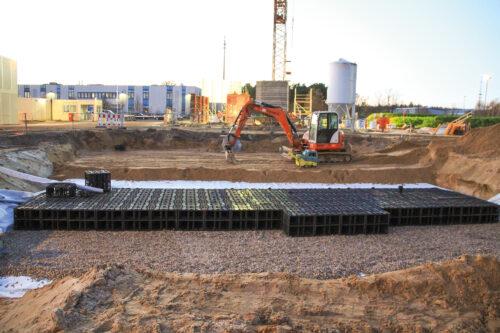 Kasten-Rigolen erlauben dank Modulbauweise unterschiedlichste Anlagengrößen. Foto: Otto Graf GmbH