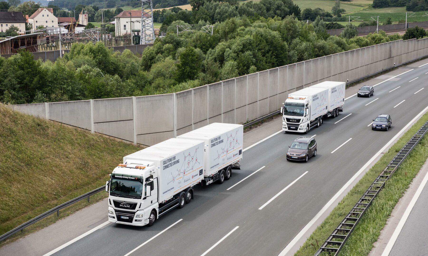 Das Pilotprojekt auf der A9 ging über 35.000 km. Foto: Deutsche Bahn AG / MAN / Jan Hölzl
