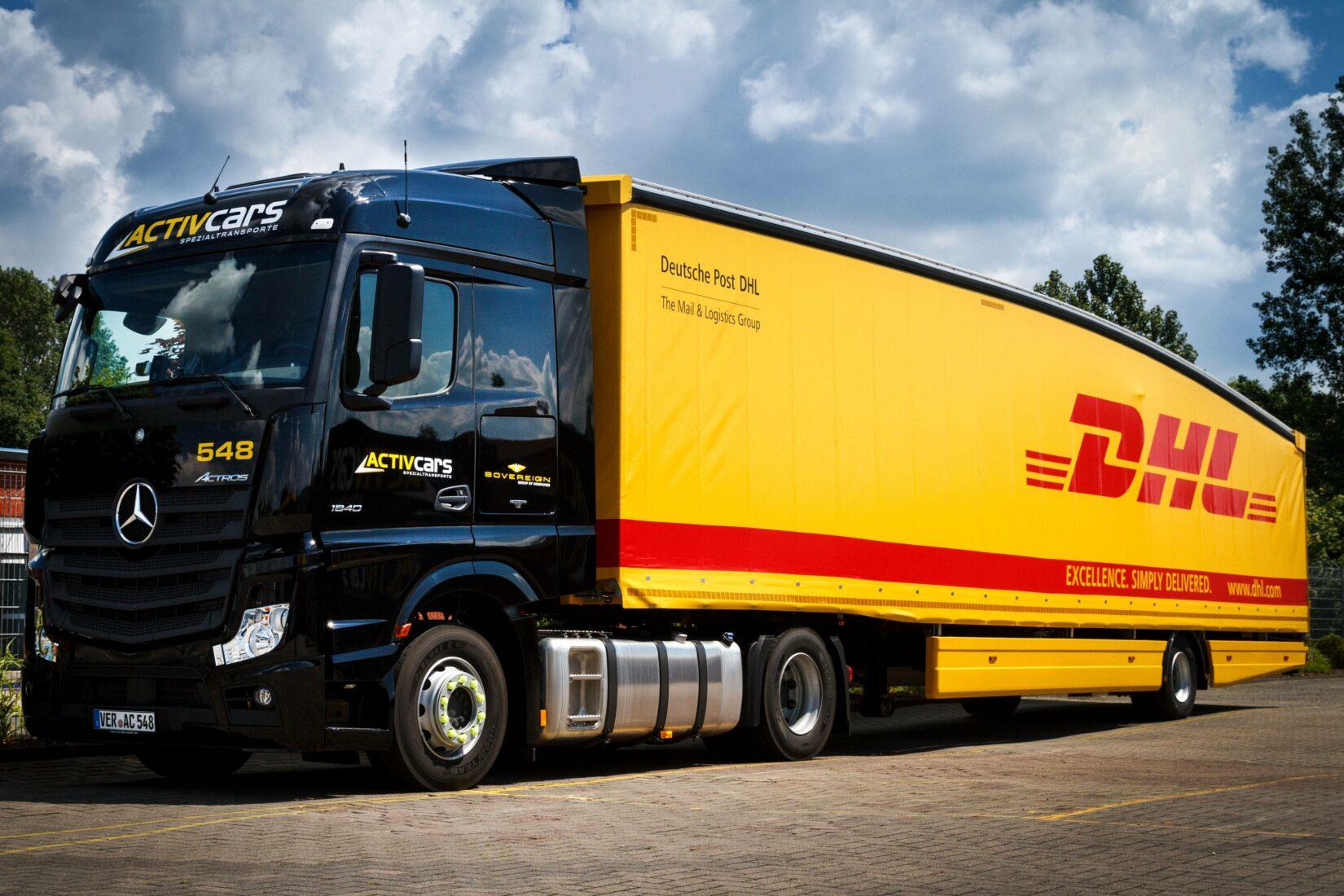 Teardrop-Trailer: 1.400 solcher Fahrzeuge verwendet DHL bereits in England und Kontinental-Europa. Foto: DHL Freight