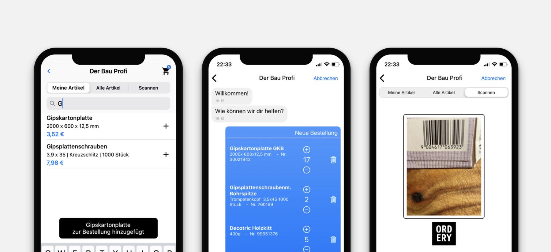 Die Bestell-App ist mit jedem Smartphone nutzbar. Grafik: Magball GmbH