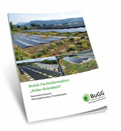 Die Broschüre zeigt auf 52 Seiten, wie sich Solar-Gründächer dauerhaft funktionsfähig realisieren lassen. Foto: BuGG