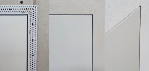 Die wandbündige Version ohne Deckleisten wird mit Anputzleisten montiert. Foto: Wellhöfer