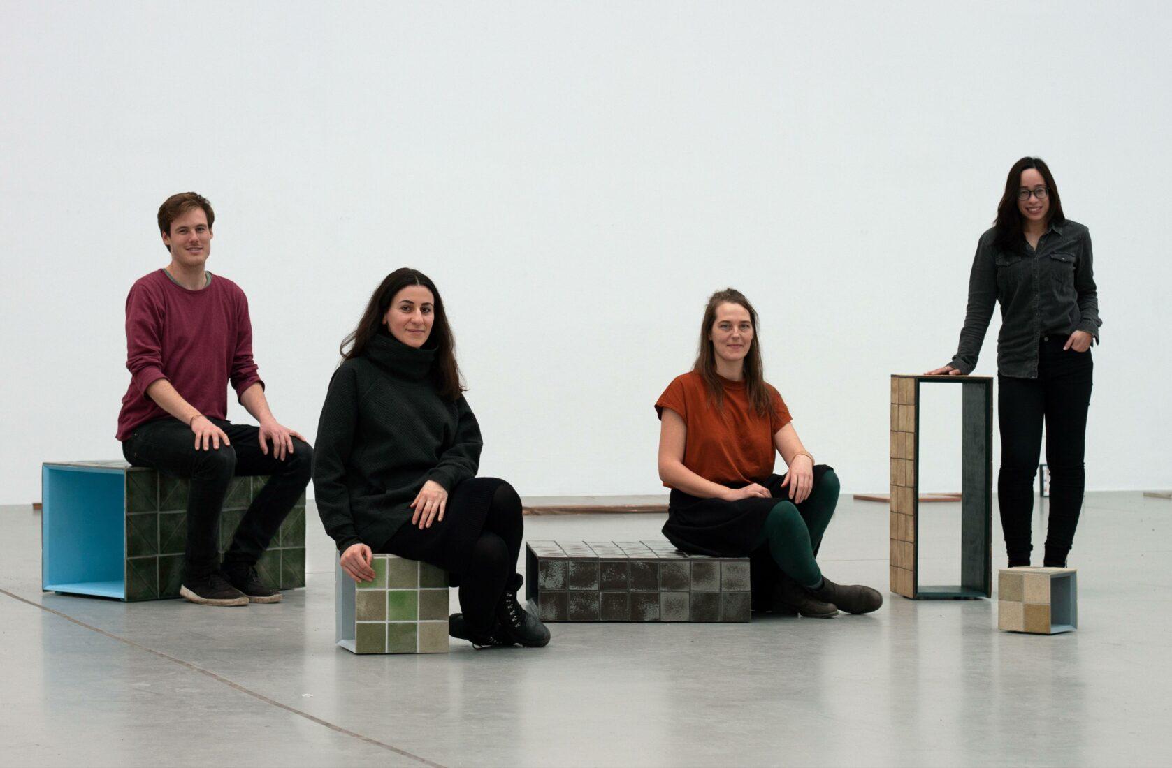 Das Shards-Team (v.l.n.r.): Moritz von Galen, Leya Bilgic, Lea Schücking und Min Hui Yap. Foto: Shards
