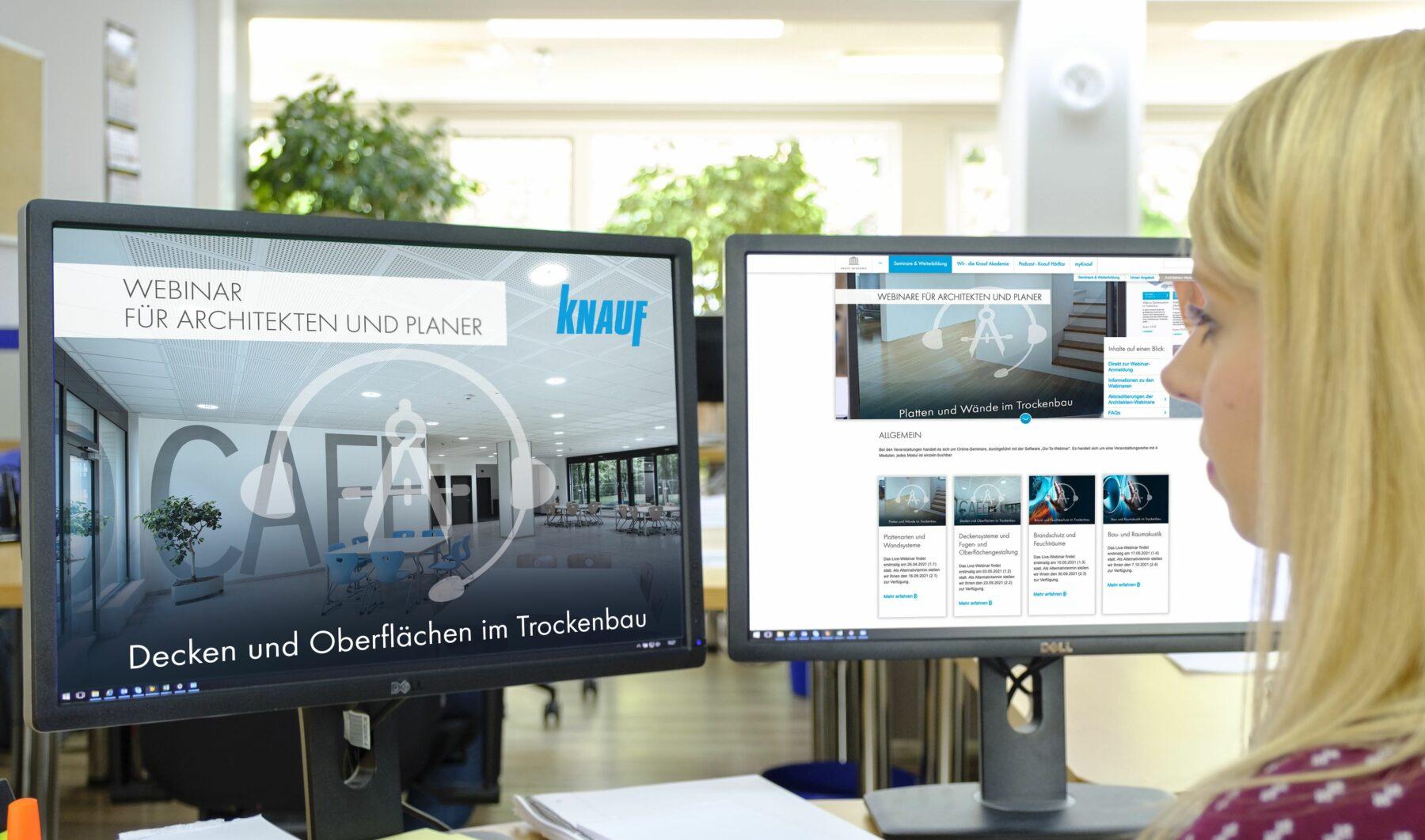 Knauf erweitert sein Webinar-Programm um gezielte Angebote für Architekten. Foto: Knauf/Stefan Ernst