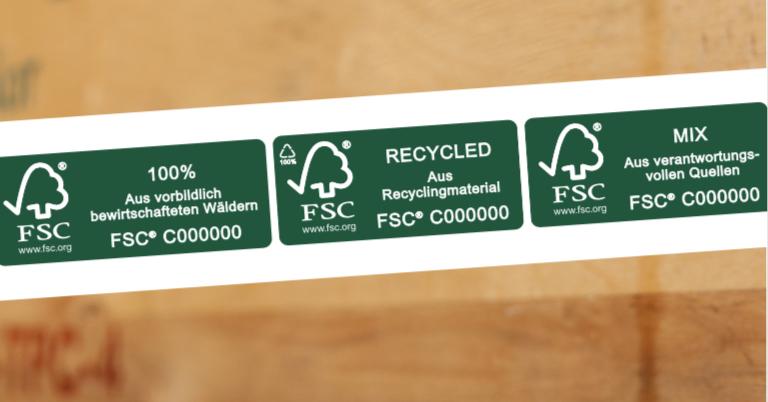 Bei den Produktkennzeichen gibt es aktuell drei verschiedene FSC-Siegel. Grafik: FSC Deutschland