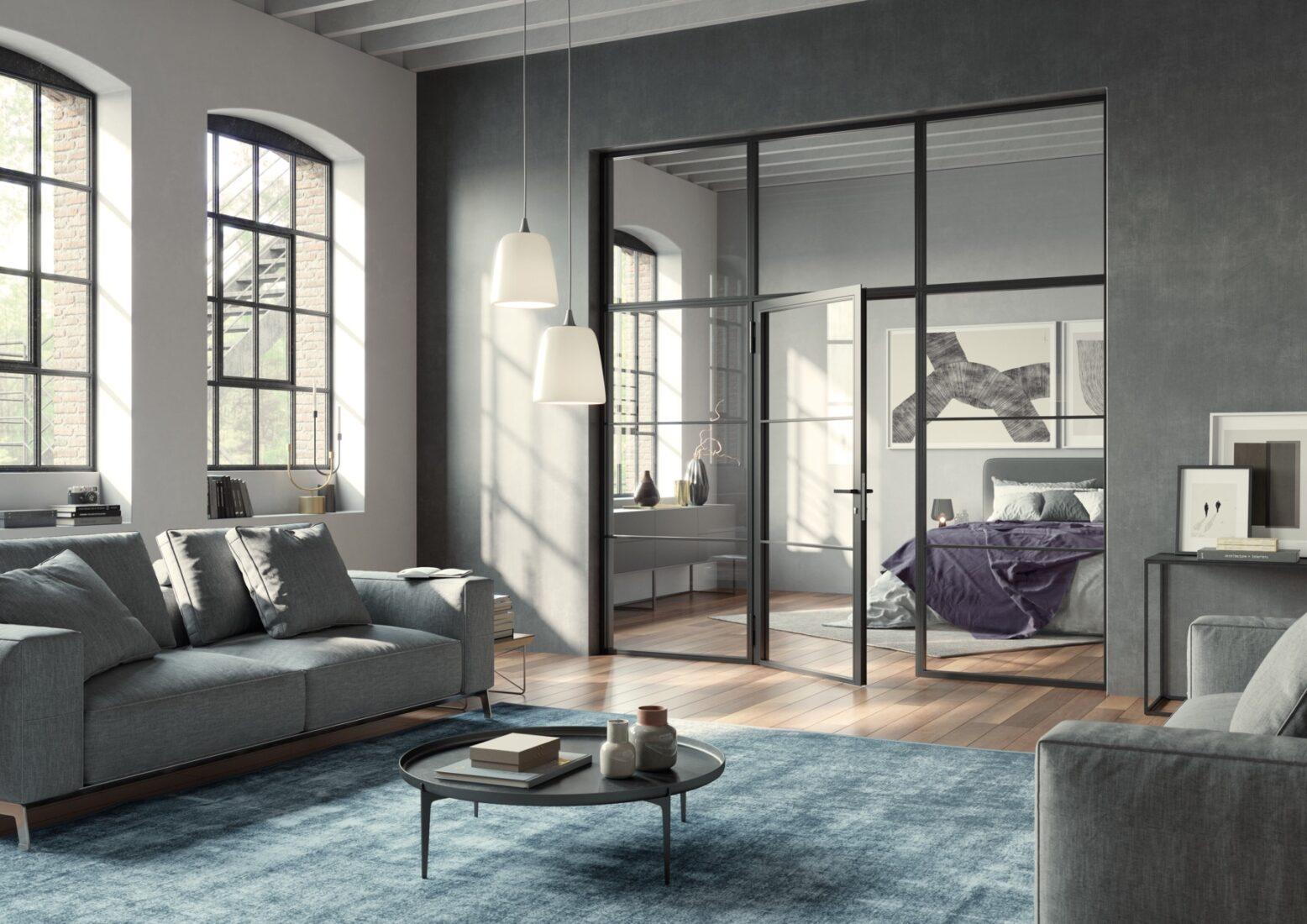 Die schmale Profilansicht und die matt-schwarze Farbe prägen den Industrial-Style. Foto: Hörmann