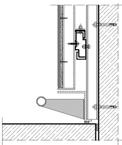 Die Konstruktion im Schnitt. Grafik: Knauf