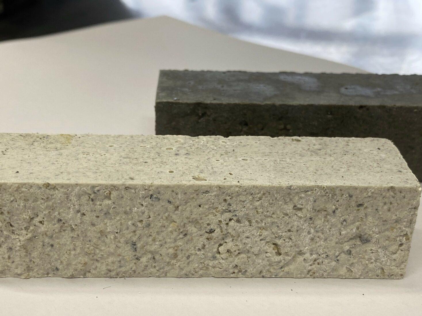 Im Forschungslabor: Heller CO2-negativer Beton mit Magnesium-basierten Bindemittel. Foto: Empa