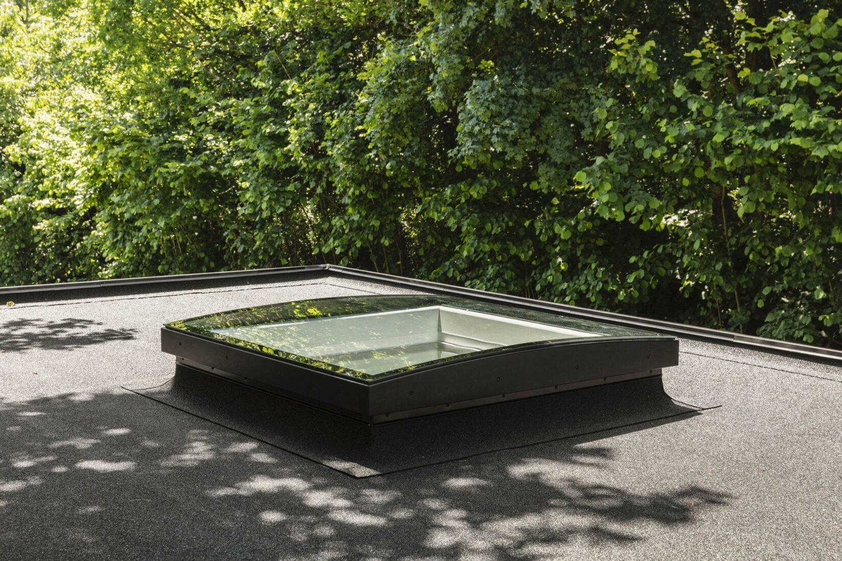 Die Variante Konvex-Glas eignet sich für Dächer mit einer Neigung von 0–15 Grad. Foto: Velux