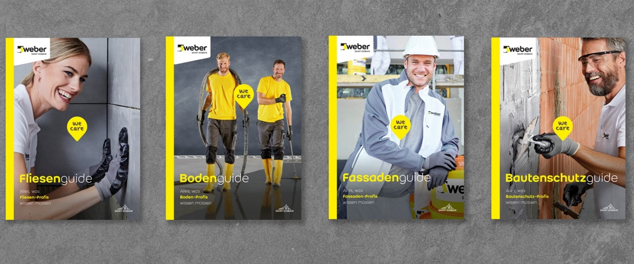 Neu erschienen: Die vier Weber-Guides umfassen insgesamt 1.500 Seiten. Foto: Saint-Gobain Weber