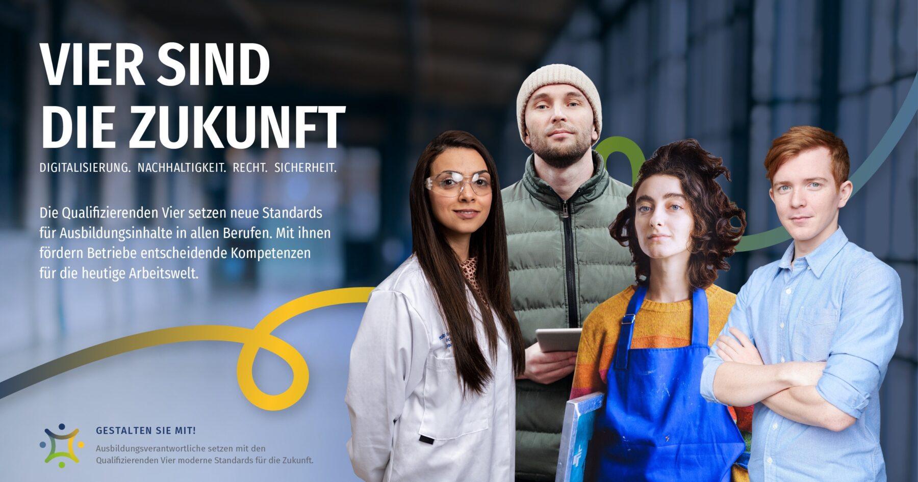 """""""Vier sind die Zukunft!"""" war das Motto der Themenwoche zu den neuen Ausbildungsinhalten. Bild: BIBB"""