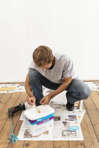 """Für den """"Easyputz"""" bietet der Hersteller auch separat erhältliche Farbpigmente."""