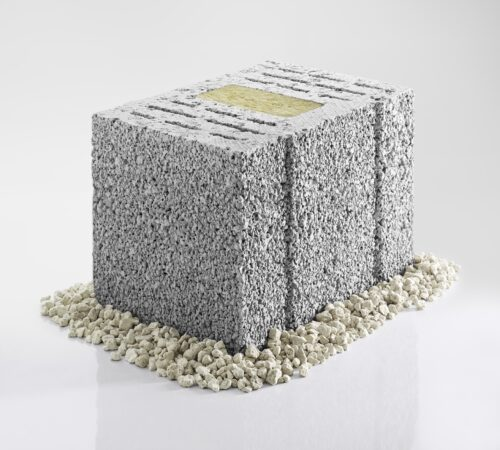 Die einzelnen Steine bestehen aus haufwerksporigem Leichtbeton. Foto: KLB Klimaleichtblock