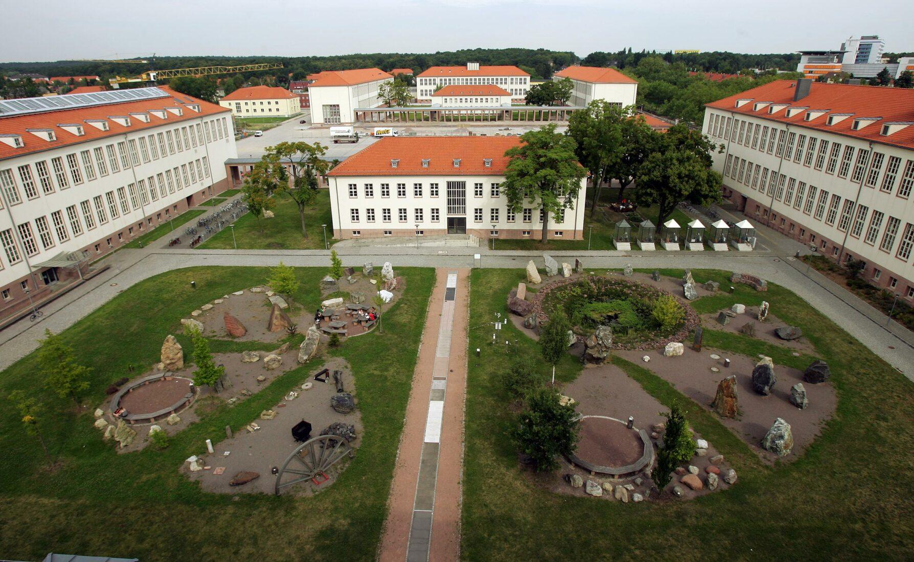 Geologischer Garten des Instituts für Geowissenschaften und Geographie. Foto: Uni Halle / Maike Glöckner
