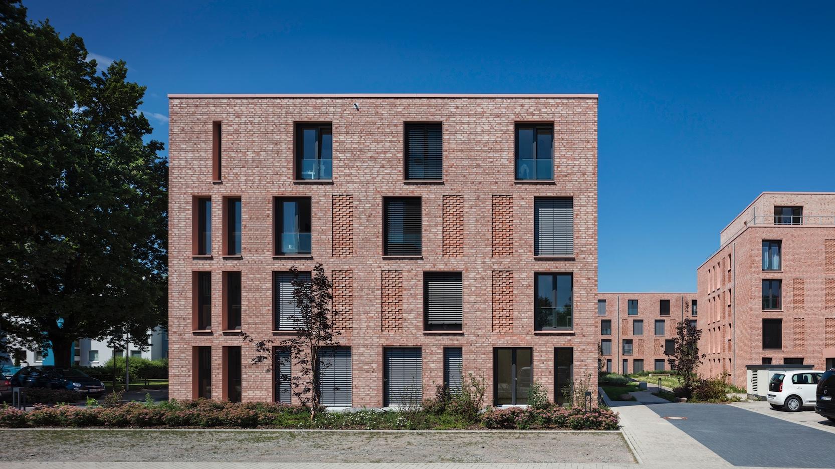 Fünf Gebäude bilden das neue Wohnquartier für Studierende. Alle Fotos: Wienerberger / Jens Kirchner