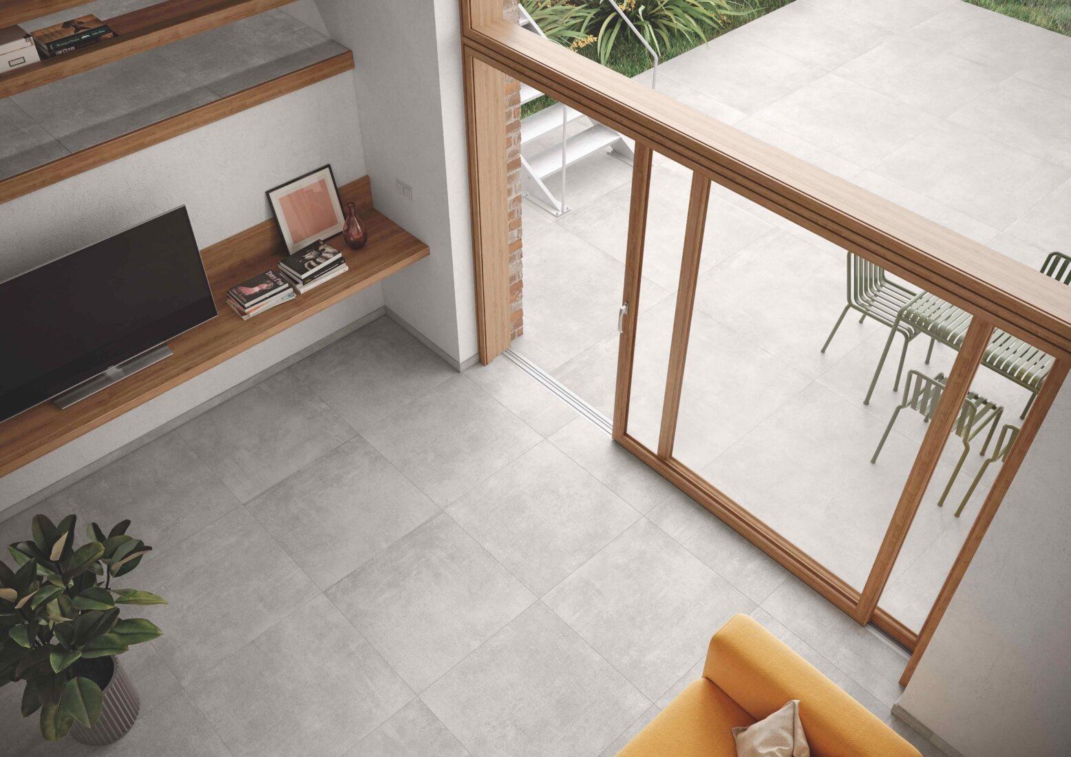 """""""Like""""-Fliesen im Farbton Cement (innen: 80 x 80 cm, außen: 120 x 120 cm). Alle Fotos: agrob-buchtal.de"""