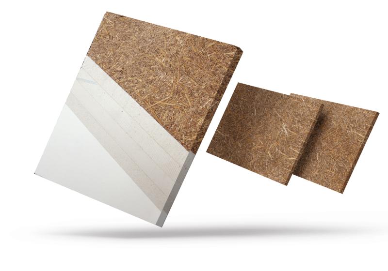 Die Putzträgerplatte aus Stroh ist eine Alternative zu herkömmlichen Gipskarton-Lösungen. Alle Fotos: Maxit