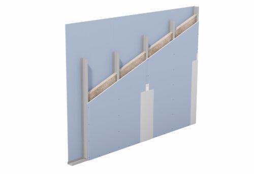 Auch Einfachständerwände haben einen Hohlraum, der sich dämmen lässt. Foto: Knauf