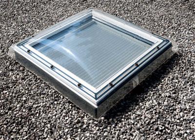 Durchsturzsicheres Flachdach-Fenster