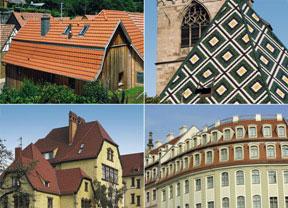 Dachlandschaft in Deutschland
