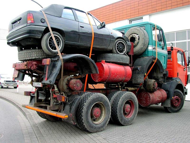 Ungenügende Ladungssicherung