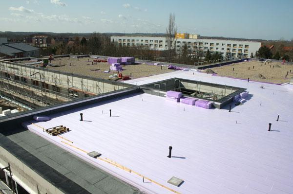 Hanse-Klinikum in Wismar Dachdämmung nach Umkehrprinzip