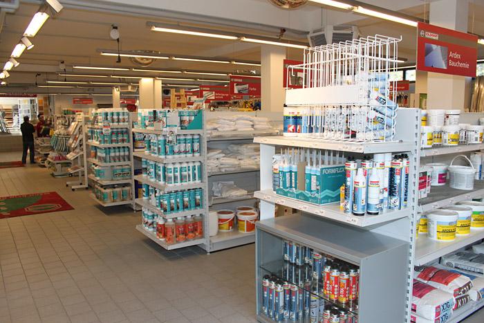 Bauchemie-Sortiment bei Essener Baustoff-Fachhandel Schlenkhoff