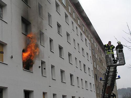 Brennendes Haus