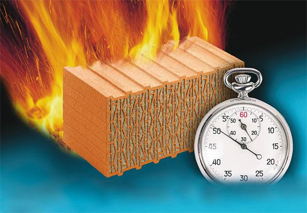 Feuerwiderstand bei Mauerziegeln