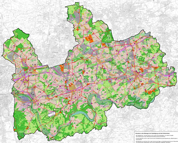 Flächennutzungsplan der Städte Bochum, Essen, Gelsenkirchen, Herne und Mülheim/Ruhr