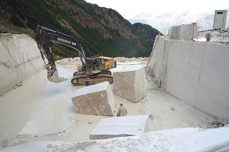 Marmorsteinbruch in Südtirol