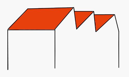 Sheddach (Zeichnung)