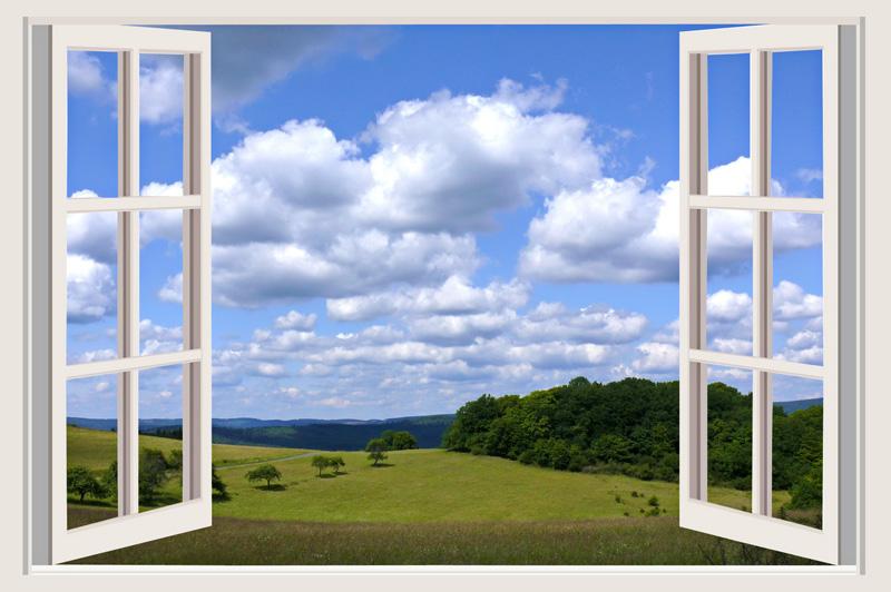 Nach außen öffnende Drehflügelfenster