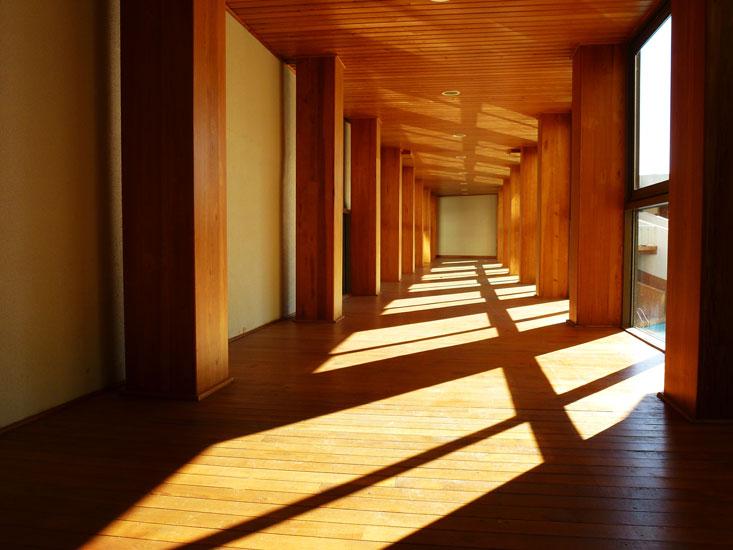 Geöltes Holz im Innenraum