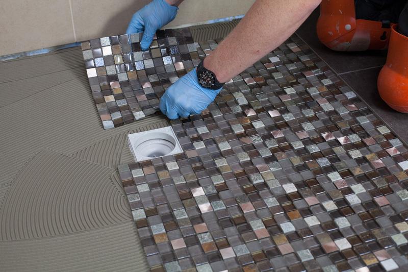 Mosaikfliese auf Trägergewebe