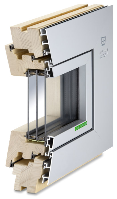 Querschnitt Alu-Holz-Fenster