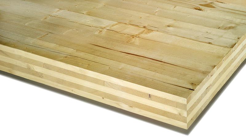 Kreuzweise verleimtes Brettsperrholz