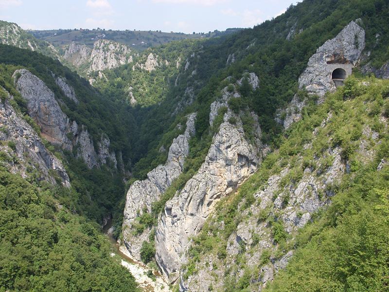 Kalksandsteingebirge in Montenegro