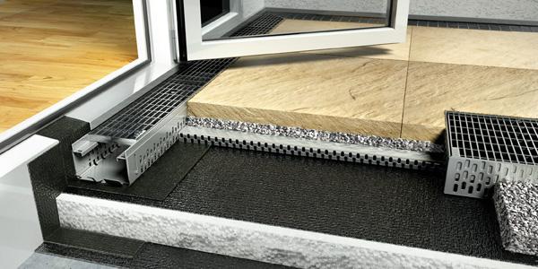 Querschnitt der Profiline-Fassadenrinne