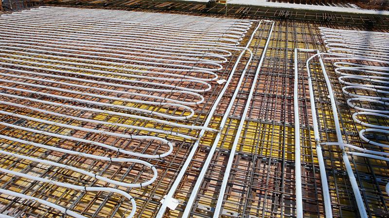 Bauteilaktivierung in der Decke