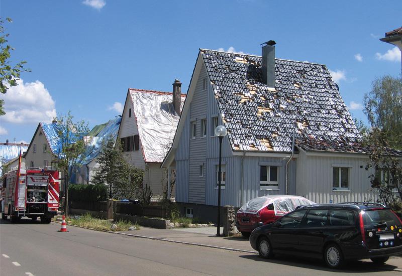 Hagelschäden am Dach