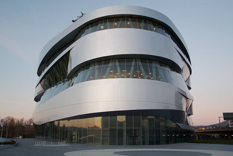 Fassade des Stuttgarter Mercedes-Benz-Museums